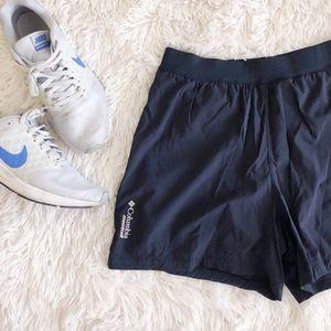 COLUMBIA black montrail omni-wick running shorts